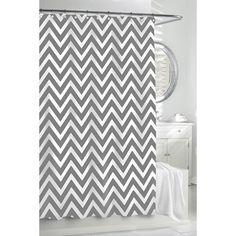 Chevron Shower Curtain - Grey/White   Gracious Style