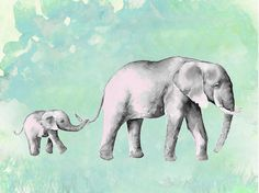 Image result for mom and baby elephant tattoo
