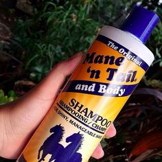 Mane 'n Tail Shampoo = it may ~technically~ be for horses, but your hair will love it too