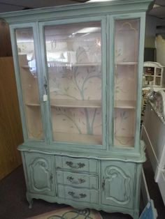 I really like this color... Just bought a china hutch this color would be great on!!