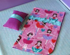 Check out this item in my Etsy shop https://www.etsy.com/listing/248780308/ballerina-doll-sleeping-bag-set-handmade