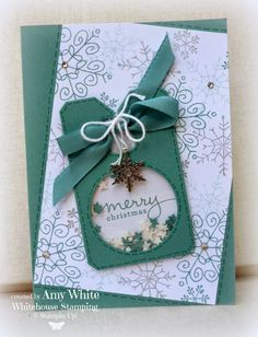 "By Amy White from ""White House Stamping"", Stampin' Up! Starry Lagoon Shaker Card ..."