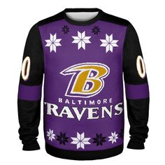 Baltimore Ravens Jersey Style Ugly Sweater
