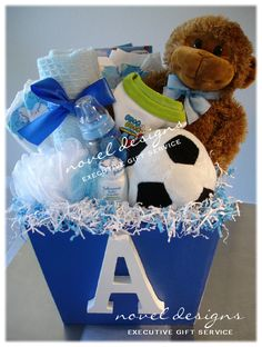 Babys first library basket gift pinterest gift babies and m for malik on a box front solutioingenieria Image collections