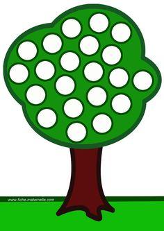 Preschool Do A Dot Printables - Numbers Preschool, Preschool Art, Preschool Worksheets, Preschool Activities, Motor Activities, Infant Activities, Montessori Trays, Licht Box, Apple Unit
