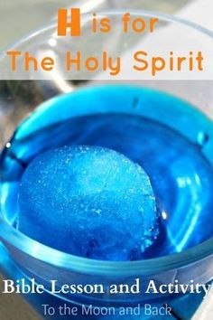 is for Holy Spirit Bible Lesson and Activity Holy Spirit Bible Lesson and Activity/ExperimentHoly Spirit Bible Lesson and Activity/Experiment Sunday School Activities, Bible Activities, Sunday School Lessons, Sunday School Crafts, Church Activities, Primary Activities, Bible Games, Bible Study For Kids, Bible Lessons For Kids
