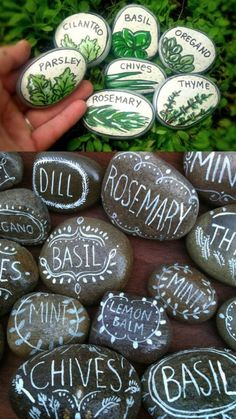 15 best painted rock ideas: creative arts & crafts for kids & family. DIY home garden decorations & gifts by painting beautiful designs on stones & pebbles! – A Piece of Rainbow diy home decor, bohemian decor, garden 15 Inspiring DIY Painted Rock Ideas Diy Garden Decor, Garden Art, Garden Decorations, Halloween Decorations, Herb Garden Design, Herb Garden Pallet, Gutter Garden, Tower Garden, Outdoor Garden Decor