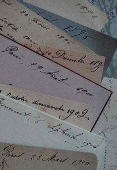 Beautiful old letters