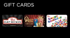 Movie Gift Card-Goodrich Quality Theaters or Celebration Cinemas.