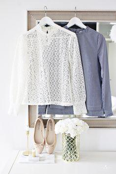 laceshirt pitsipusero lace navystripes classy style fashion muoti klassinen tyyli