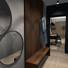 Návrh chodby v industriálním stylu.#interiordesign#corridor#industrial Home Fashion, Corridor, Oversized Mirror, Industrial, Interior Design, House Styles, Furniture, Home Decor, Nest Design