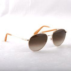 e04919dd536e TOM FORD -Colin TF338 28F Aviator ROSE GOLD ORANGE METAL Sunglasses