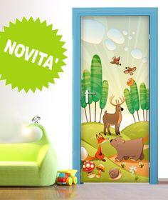 Ideal wall stickers porta x bosco nanna chicco adesivo