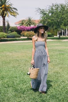 2dbde96ea00 Little Blonde Book A Fashion Blog by Taylor Morgan  Gingham Maxi Dress  Strappy Maxi Dress