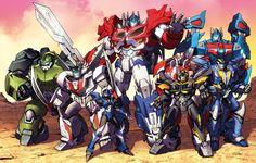 Transformers Prime Autobots teamshot by Dan-the-artguy.deviantart.com on @deviantART