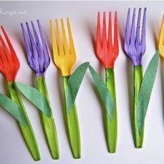 fork tulip craft