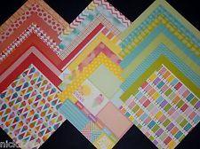 12X12 Scrapbook Paper Cardstock American Crafts Summer Rainbow Ice Cream 24 lot