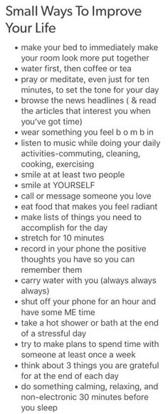 health affirmations Small Ways To Improve Your Life Life Advice, Good Advice, Life Tips, Affirmations Positives, Stress Management, Self Development, Personal Development, Better Life, Self Help