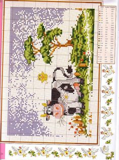 ♥ My point Graphs Cruz ♥: Farm: Chickens and Kitties in Cross Stitch