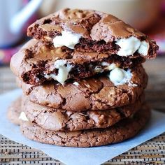 chocolate marshmellow cookies