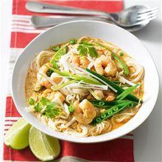 Prawn Laksa Recipe http://www.deliciousmagazine.co.uk/recipes/prawn-laksa