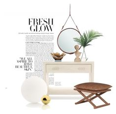 """Malibu table..."" by gloriettequartet on Polyvore featuring interior, interiors, interior design, home, home decor, interior decorating, Mitchell Gold + Bob Williams, Gubi, NDI and Flos"