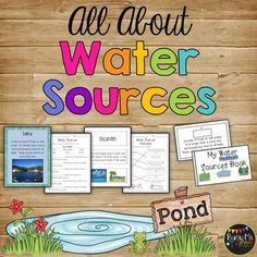 This is a great introduction or lesson on water sources (streams, rivers, ponds, lakes, and oceans). This is a wonderful lesson for your first grade or second grade students! They will love it and it is quick and easy. No prep time for you besides printing the copies ant cutting out the cards if you use them! The kids create the whole water sources booklet!