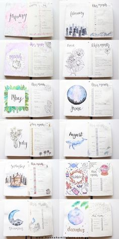 How I used my bullet journal in 2018 been bullet journalling for a few years now - nearly 3 I think? - so pretty clued up on how my bullet journal works for me. It has of course changed a great deal over that time as so has my life! Bullet Journal School, Bullet Journal Inspo, Bullet Journal Review, Bullet Journal Notebook, Bullet Journal Aesthetic, Bullet Journal Ideas How To Start A, Bullet Journal Month Page, Bullet Journal Layout Ideas, Bullet Journal Monthly Calendar