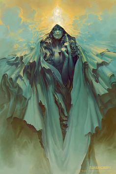 Hod by PeteMohrbacher, concept art of a God, digital painting, amazing artwork, concept art, inspirational art