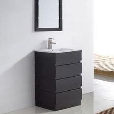 Small Bathroom Vanities, Large Bathrooms, Dream Bathrooms, Downstairs Bathroom, Bathroom Wall, Bathroom Remodel Cost, Single Sink, Powder Room, Vanity
