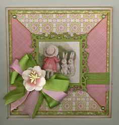 "created by Carlene Prichard: Chatterbox Creations-1.blogsot.com - ""Vintage Girl and Her Easter Bunnies!"" - 4-17-14.  See BLOG for more information and ingredients."