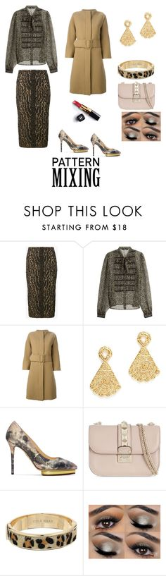 """""""Pattern mixing"""" by adeane on Polyvore featuring Rochas, Etro, Gianluca Capannolo, Charlotte Olympia, Valentino, Cole Haan and Chanel"""