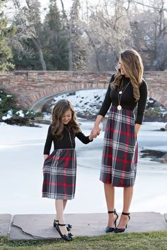 Mommy and Me Outfits Mother Daughter Matching Girl Striped Dress Family Outfits Mommy And Me Dresses, Mommy And Me Outfits, Little Dresses, Kids Outfits, Plaid Outfits, Mother Daughter Matching Outfits, Mother Daughter Fashion, Matching Family Outfits, Mommy Daughter Dresses