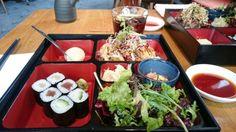 """Japanisch Essen """"Bento Box"""" in München im Koi Restaurant."""