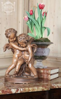 Antique Terra Cotta Cherubs
