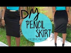 DIY | Pencil Skirt Tutorial | Start to Finish - YouTube