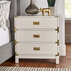 Eaucourt 3 Drawer Accent Chest Accent Furniture, New Furniture, Barn Bedrooms, 3 Drawer Nightstand, Accent Chest, Drawers, Room Decor, Interior Design, Master Bedroom