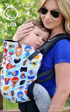 Canvas - Heart-Hugs Exclusive 'Little Heroes' TULA BABY CARRIER; Released May 2015