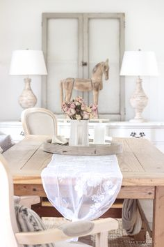 Dining Room French Country Awesome French Country In the Dining Room Love Grows Wild French Dining Chairs, French Country Dining Room, French Country Style, French Country Decorating, Raw Wood Furniture, Unfinished Wood Furniture, White Buffet, Inspired Homes, Nest