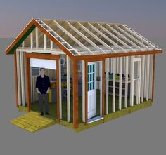 Framing walls in construction how to build a frame for an interior build your perfect workshop with these 12x16 gable shed solutioingenieria Choice Image