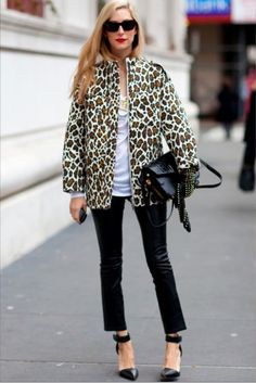 Pairs you should invest in: leopard prints + red lips.