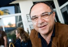Hispanic mature man in a party Royalty Free Stock Photo