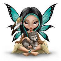 903318001 - Jasmine Becket-Griffith Mystical Fairy With Wolf …