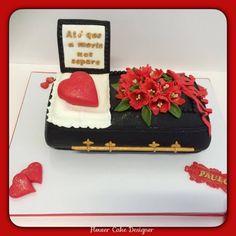 FLOWER CAKE DESIGNER: Bolo de noivado