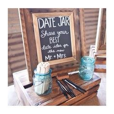 ✒️ *Date Suggestion Jars are great to have at #bridal showers, #wedding receptions and anniversary parties! ✨ #datenight #love #party #eventdesign #bride #instabride #style #decor #weddingplanner #weddingideas #happy #rustic #bohemian #masonjars #instagood #cute #pretty #weddinginspiration #inspiration #instadaily #instawedding #bridesmaids #photobooth #rockpaperdetails