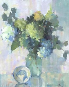 Southern Charm by Nancy Franke Oil ~ 30 x 24 Still Life Flowers, Still Life Art, Nature Paintings, Abstract Flowers, Fine Art Gallery, Painting Inspiration, Flower Art, Watercolor Art, Southern Charm