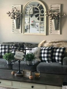 32 Gorgeous French Farmhouse Living Room Design Ideas The rustic living room wall decor is certainly extremely attractive as well as gorgeous. Here is a collection of rustic living room wall decor. Home Living Room, Living Room Designs, Living Spaces, Sofa Design, Interior Design, Room Interior, Interior Ideas, Interior Decorating, Interior Livingroom