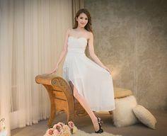 Pretty Roses Tube Dinner Asymmetrical Dress