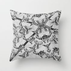 PARRIOT Throw Pillow by Galvanise The Dog - $20.00