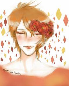 ♢ Warmth ♢ #art #drawing #doodle #oc #manga #bishounen #animeboy #art🎨 #ikemen #samsungnote3 #OC #autodesksketchbook #anime #warm #flowers #diamond #diamonds